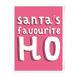 Santa's Favourite Ho Art Print
