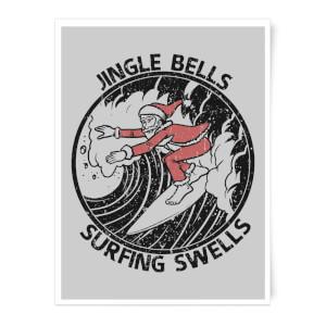 Jungle Bells, Surfing Swells Art Print
