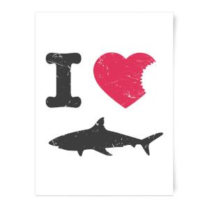 I Love Sharks Art Print
