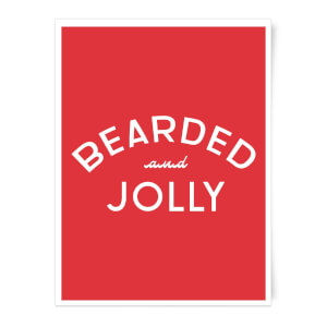 Bearded and Jolly Art Print