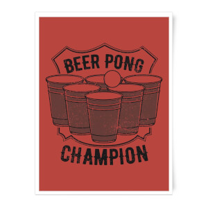 Beer Pong Champion Art Print