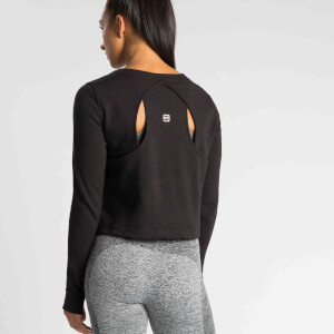 M - IdealFit Pro Tech Crew Sweatshirt - Black