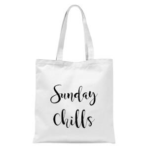 Sunday Chills Tote Bag - White