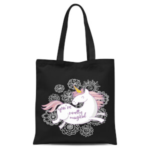 You Are Pretty Magical Unicorn Tote Bag - Black