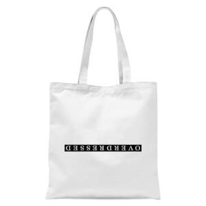 Overdressed Black Tote Bag - White