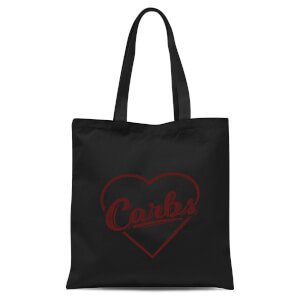 Love Carbs Tote Bag - Black