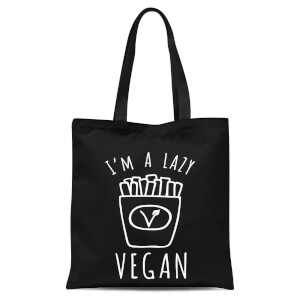 Lazy Vegan Tote Bag - Black