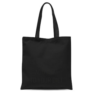 Shutting Up Is Carb Free Tote Bag - Black