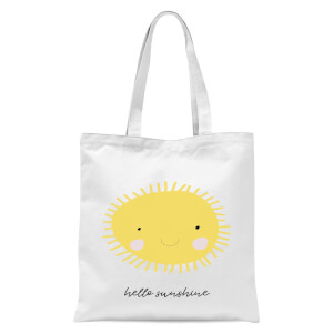 Hello Sunshine Tote Bag - White