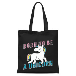 Born To Be A Unicorn Tote Bag - Black