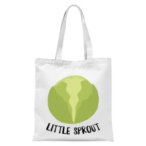 Little Sprout Tote Bag - White