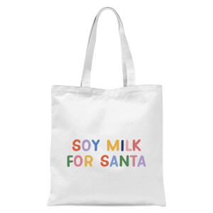 Soy Milk for Santa Tote Bag - White