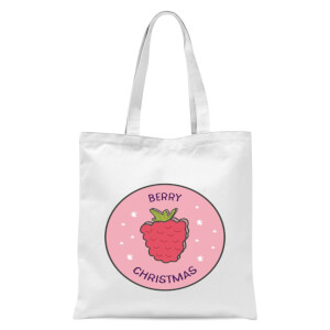 Berry Christmas Tote Bag - White