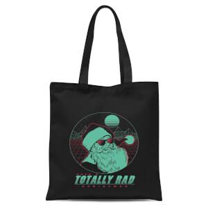 Totally Rad Christmas Tote Bag - Black