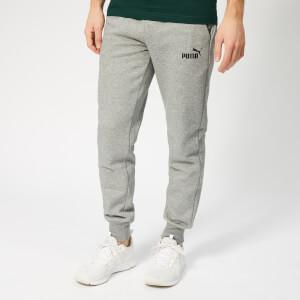 Puma Men's Essentials Logo Pants - Medium Grey Heather