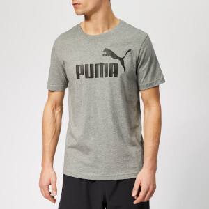 Puma Men's Essentials Logo Short Sleeve T-Shirt - Medium Grey Heather