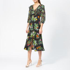 RIXO Women's Bonnie Floral Spot Dress - Black/Multi