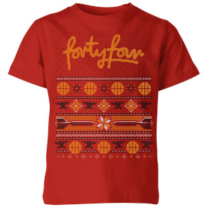 How Ridiculous Forty Four Knit Kids' Christmas T-Shirt - Red
