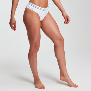 Tanga sin costuras Essentials para mujer de MP - Blanco