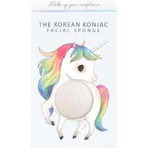 The Konjac Sponge Company Mythical Unicorn Prancing Konjac Sponge Box and Hook -kasvosienisetti 30g, White