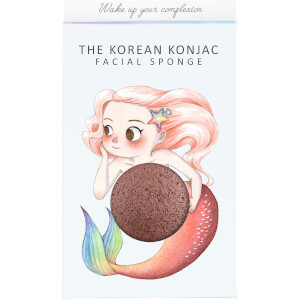The Konjac Sponge Company Mythical Mermaid Konjac Sponge Box and Hook gąbka z poręcznym haczykiem – Red Clay 30 g