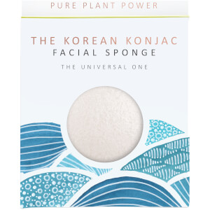 The Konjac Sponge Company The Elements Water Facial Sponge gąbka do twarzy – 100% Pure White 30 g