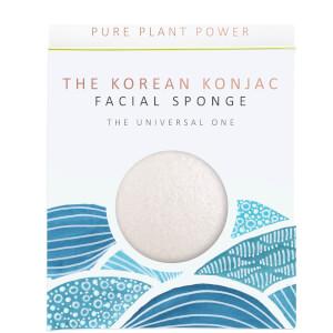 Esponja facial The Elements Water de The Konjac Sponge Company - 100% blanco puro 30g