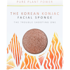 Esponja facial The Elements Fire de The Konjac Sponge Company - Escoria volcánica purificante 30 g