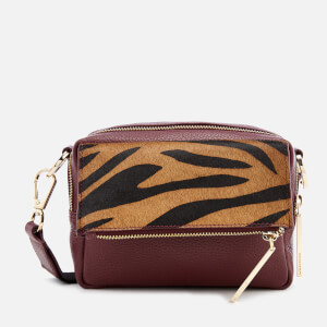 Whistles Women's Bibi Tiger Cross Body Bag - Plum