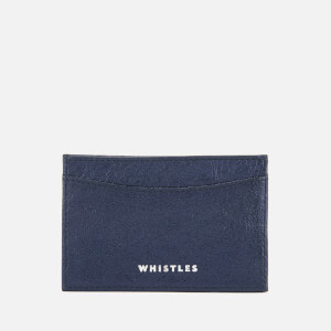 Whistles Women's Metallic Card Holder - Navy