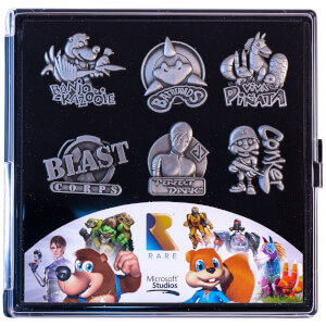 Rare Heritage Gaming Pin Badge Limited Edition Set