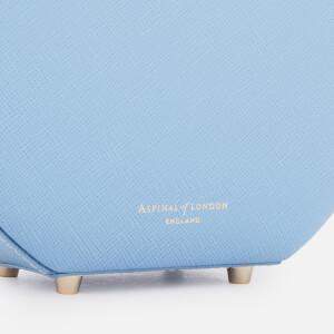 Aspinal of London Women's Hat Box - Mini (Slim Strap) - Bluebird: Image 4