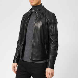 Belstaff Men's Leather Racer Jacket - Black