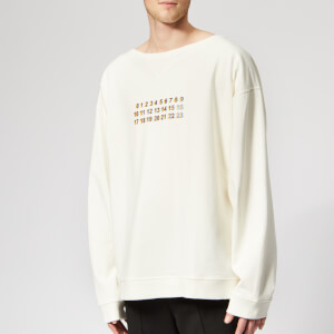 Maison Margiela Men's Dyed Logo Sweatshirt - Off White