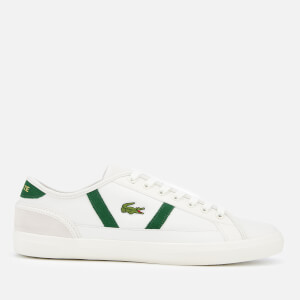 Lacoste Men's Sideline 119 3 Leather Trainers - Off White/Green