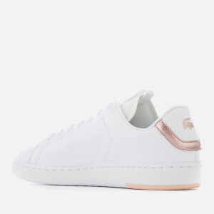 Lacoste Women's Carnaby Evo Light-WT 1193 Leather Trainers - White/Light Pink: Image 2