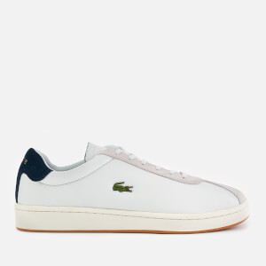 Lacoste Men's Masters 119 3 Leather/Suede Trainers - Off White/Navy