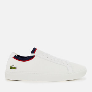 Lacoste Men's La Piquée 119 1 Knitted Cupsole Trainers - White/Navy/Red