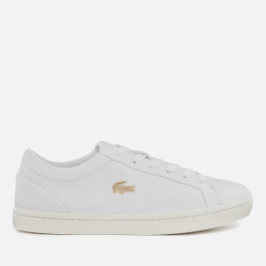 Lacoste Women's Straightset 119 2 Leather Cupsole Trainers - White/Off White
