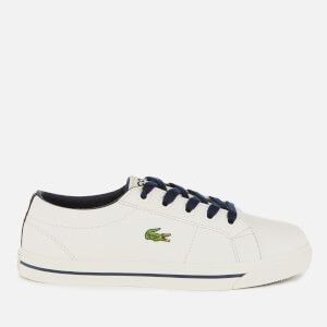 Lacoste Kids' Riberac 119 2 Low Top Trainers - Off White/Navy