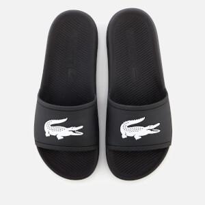 708b924eaa3907 Lacoste Men s Croco Slide 119 1 Sandals - Black White