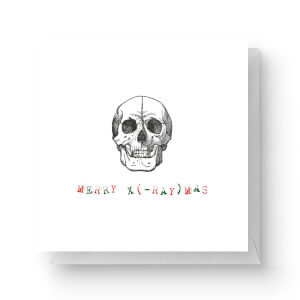 Merry X (-Ray) Mas Square Greetings Card (14.8cm x 14.8cm)