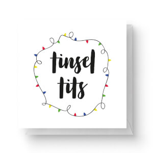 Tinsel Tits Square Greetings Card (14.8cm x 14.8cm)