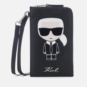 Karl Lagerfeld Women's K/Ikonik Phone Holder - Black