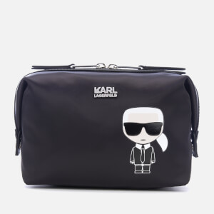 Karl Lagerfeld Women's K/Ikonik Karl Wash Bag - Black