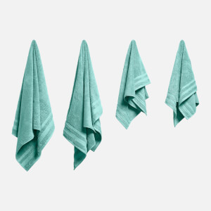 in homeware Supersoft 100% Cotton 4 Piece Towel Bale - Duck Egg