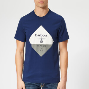 Barbour Beacon Men's Diamond T-Shirt - Regal Blue