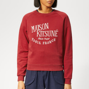 Maison Kitsuné Women's Palais Royal Sweatshirt - Red