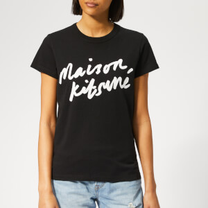 Maison Kitsuné Women's Handwriting T-Shirt - Black