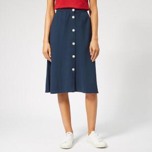 Maison Kitsuné Women's Piqué Skirt - Navy